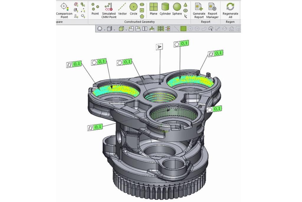Dane uzyskane podczas skanowania 3D systemem eviXmatic