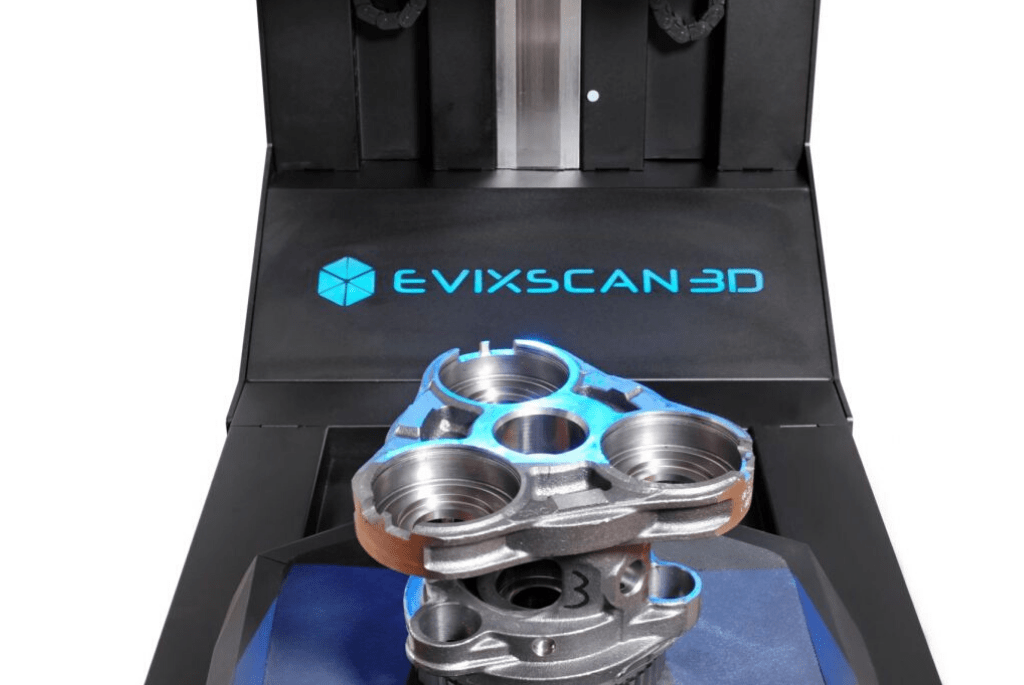 eviXmatic podczas skanowania 3D
