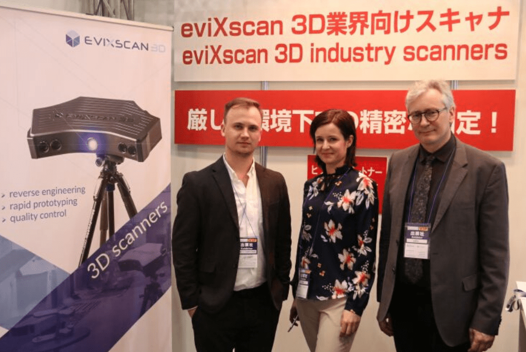 Skanery 3D eviXscan 3D na 3D & Virtual Reality Expo w Japonii