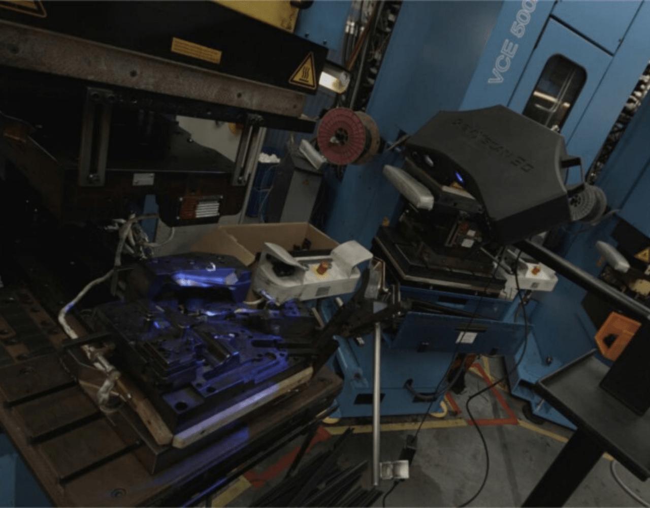 Przykład skanowania 3D w fabryce