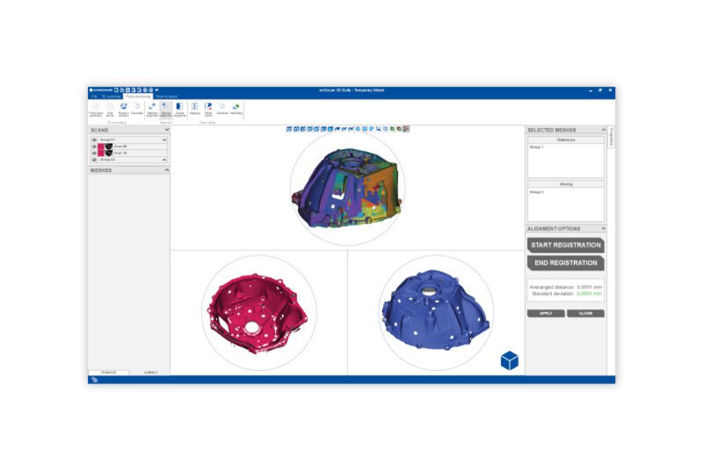 Oprogramowanie eviXscan 3D suite 2.5