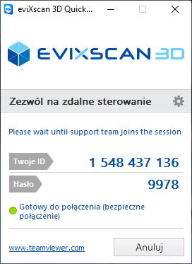 Evixscan3d support