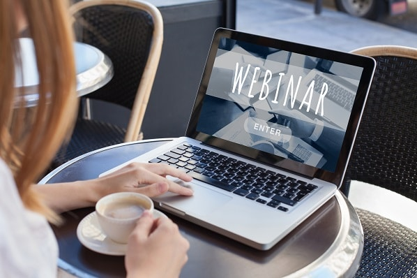 webinar online, internet education concept